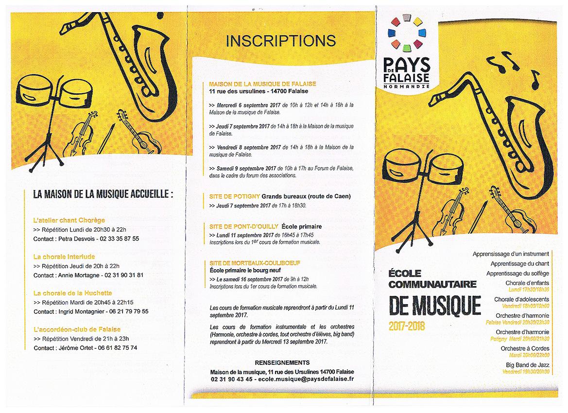 Ecole de musique 2017 verso