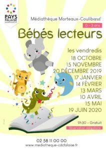 Bébés lecteurs, les vendredis à la médiathèque @ Médiathèque Morteaux-Couliboeuf
