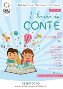 L'heure du conte, les mercredis à la médiathèque @ Médiathèque Morteaux-Couliboeuf