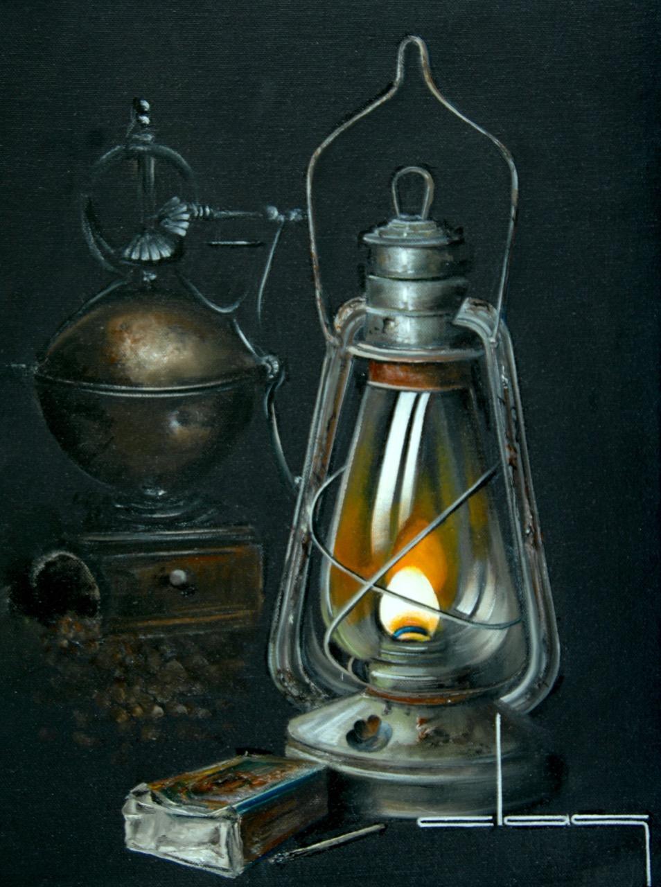 La vieille lampe tempête