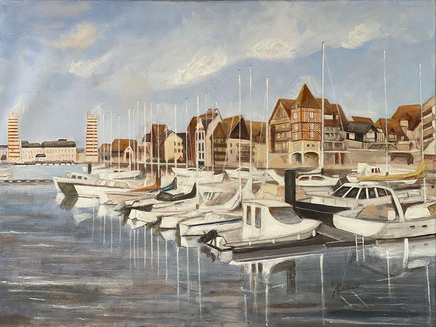 """Le bassin Morny Deauville"", Acrylique 80 x 60"