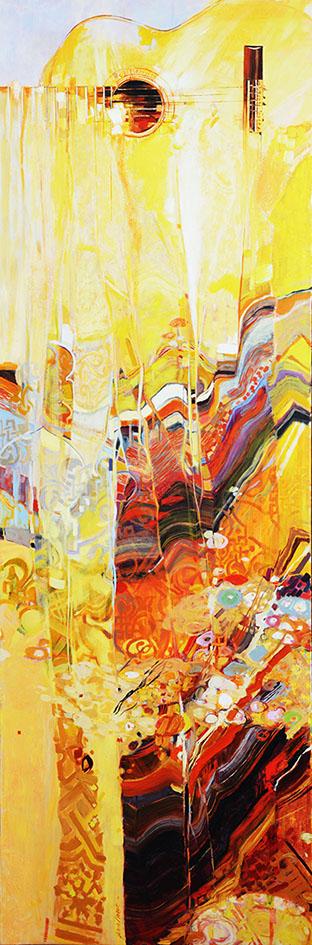 """""""Alhambra"""" , Huile sur toile - 150 X 50 ,  Réserve de l'artiste"""