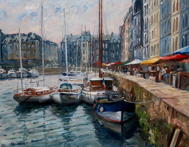 """""""Honfleur"""" , 92 x 73 , Prix de vente 1600 euros"""