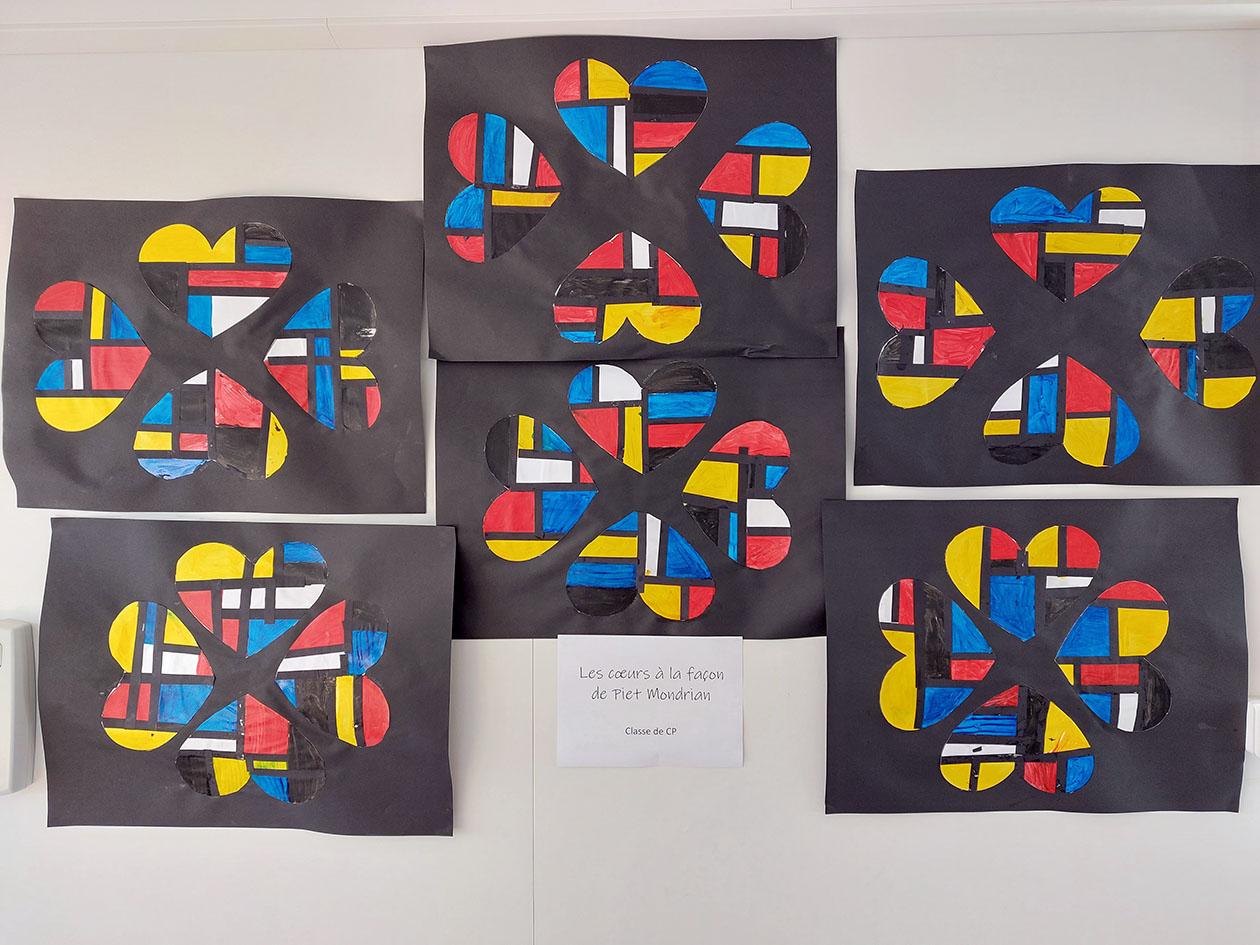 """""""Les coeurs de Mondrian"""""""
