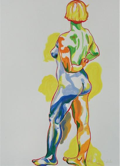 """""""Nu debout"""", dessin à la gouache sur papier 300g/m2 , 65 x 50 , Prix de vente 260 euros (sans cadre)"""