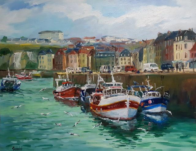 """""""Port de Dieppe"""", 92 x 73 , Prix de vente 1600 euros"""