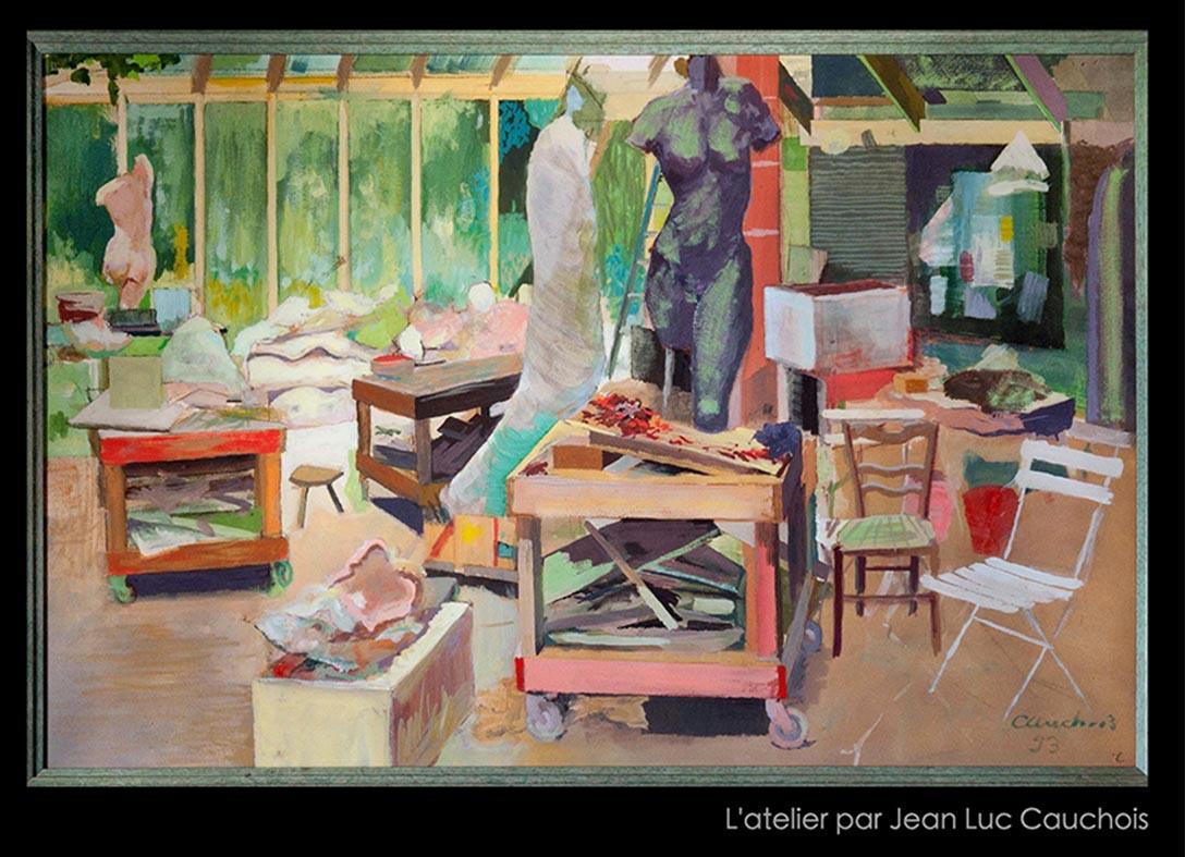 """""""Vue d atelier"""" , gouache sur papier - 80 x 120 - collection privée"""