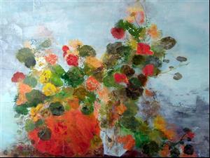 """""""Couleurs d'automne"""", 60 x 74 , Prix de vente 420 euros"""