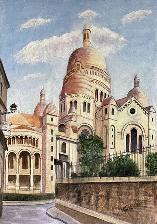 """""""Le Sacre-Coeur"""" , Acrylique 50 x 70"""
