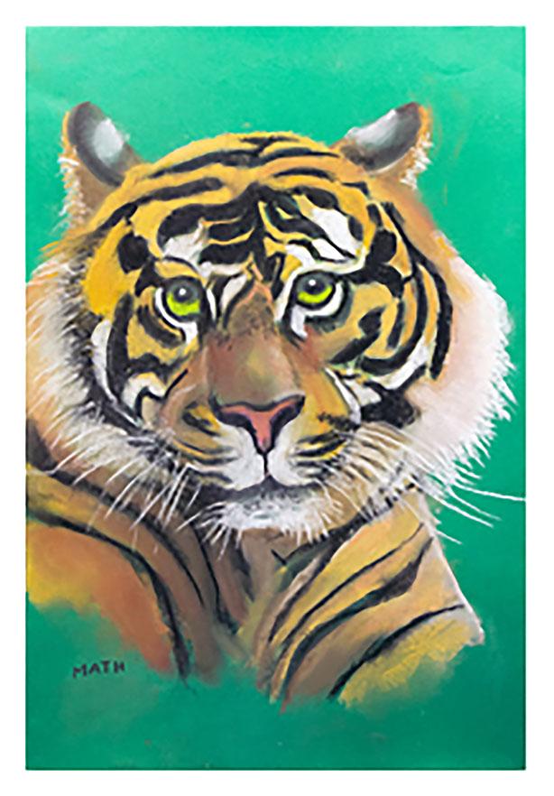 """""""Mon chaton préféré"""", Pastel 50 x 35 , Prix de vente 270 euros (avec cadre)"""