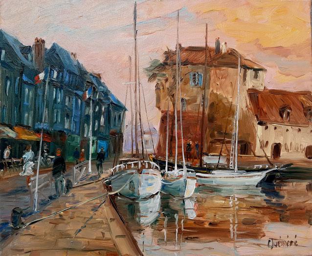 """""""Honfleur rose"""" , 55 x 46 , Prix de vente 800 euros"""