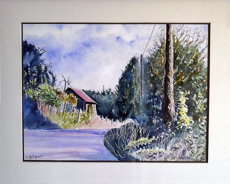 """La Lande Patry"" , Aquarelle - 40 x 50 , Prix de vente 150 euros (avec cadre)"