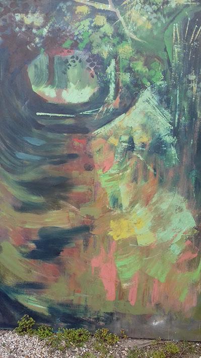 """""""La cavée"""" , Huile sur toile - 200 x 120"""