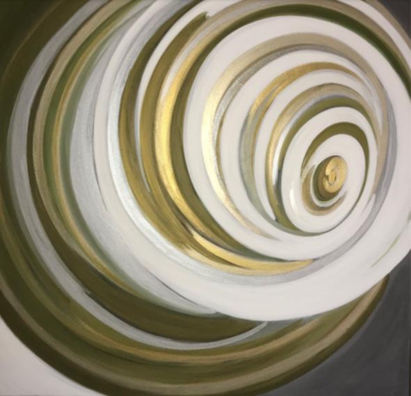 """""""Pluies chaudes"""" , Acrylique - 100 x 100 , Prix de vente 155 euros"""