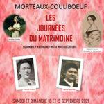 Journees du matrimoine 2021 a morteaux couliboeuf